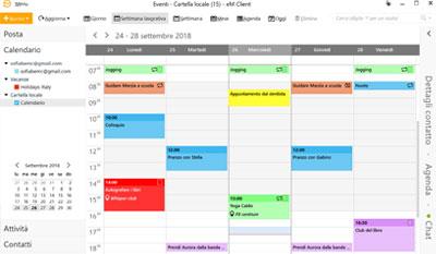EmClient, un calendario completamente personalizzabile