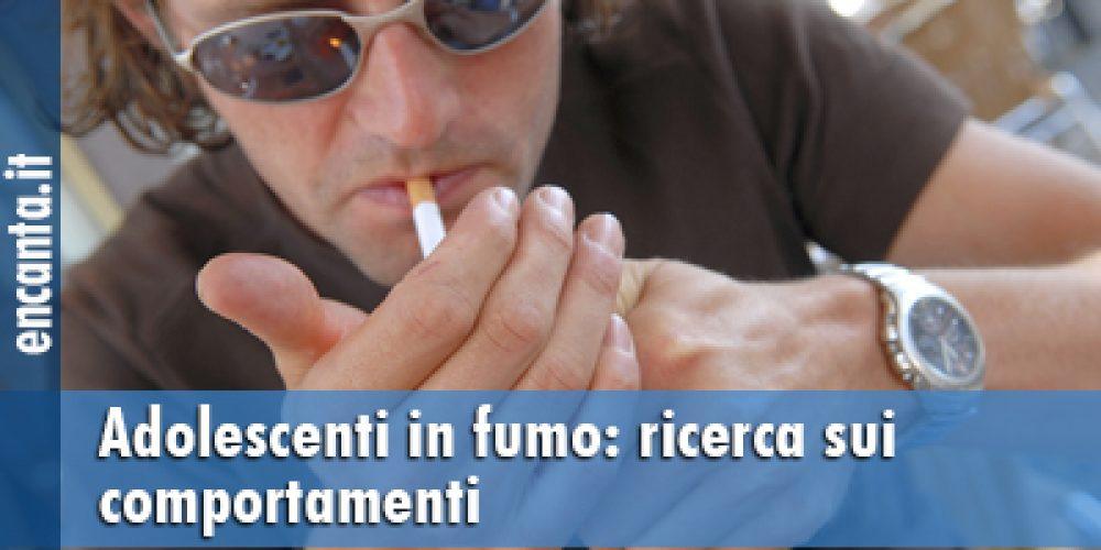 Adolescenti in fumo: ricerca sui comportamenti