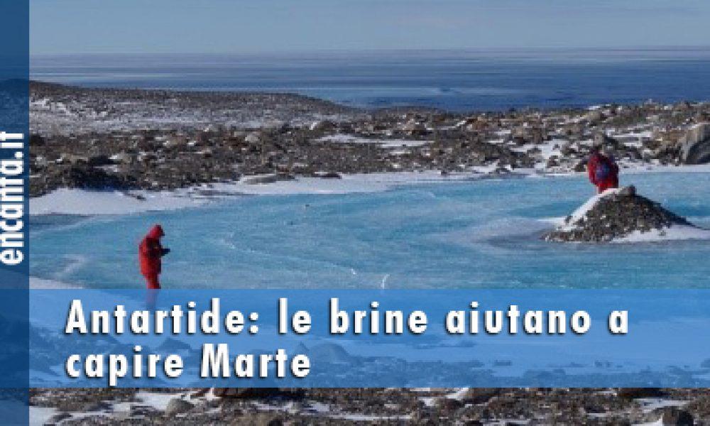 Antartide: le brine aiutano a capire Marte