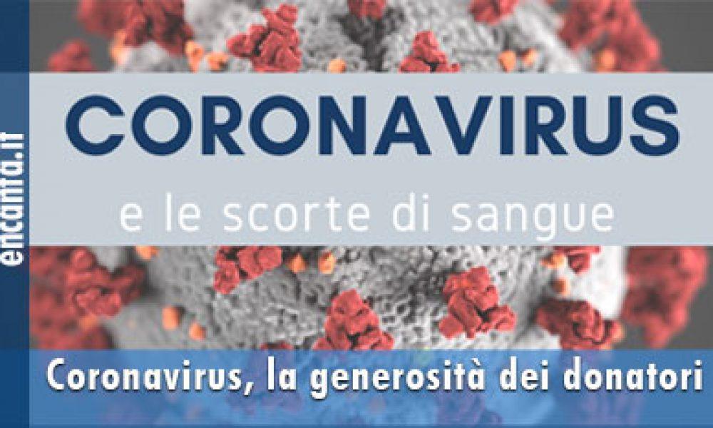 Coronavirus, la generosità dei donatori