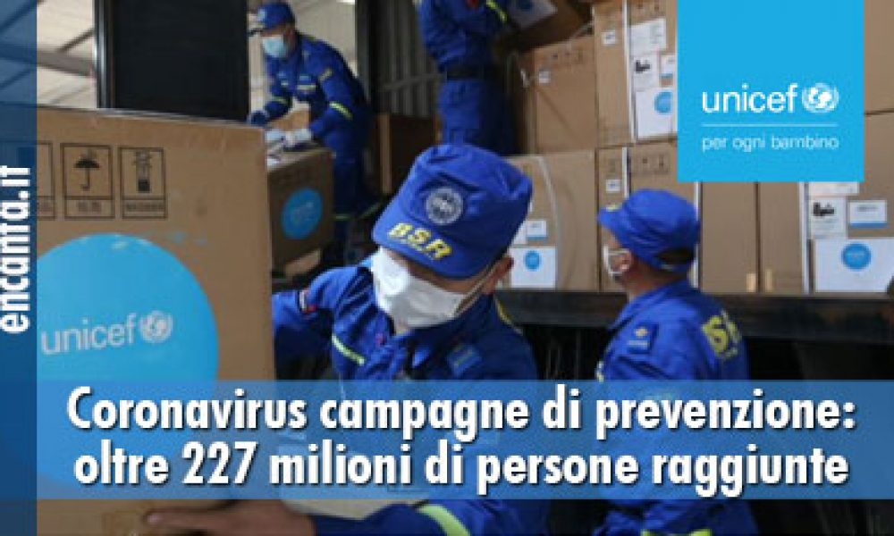 Coronavirus campagne di prevenzione: oltre 227 milioni di persone raggiunte