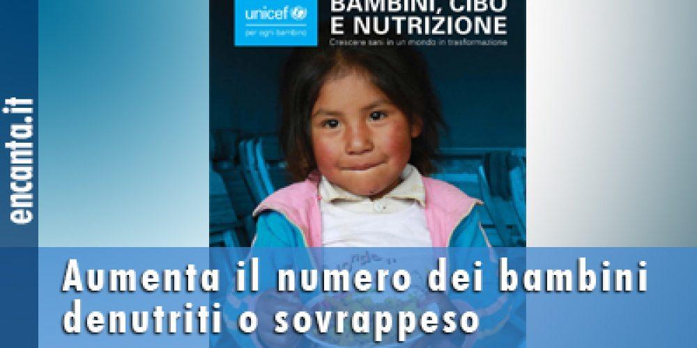 Aumenta il numero dei bambini denutriti o sovrappeso