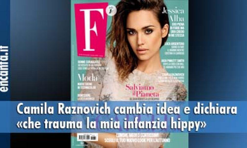 Camila Raznovich cambia idea e dichiara «che trauma la mia infanzia hippy»