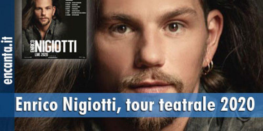Enrico Nigiotti, tour teatrale 2020