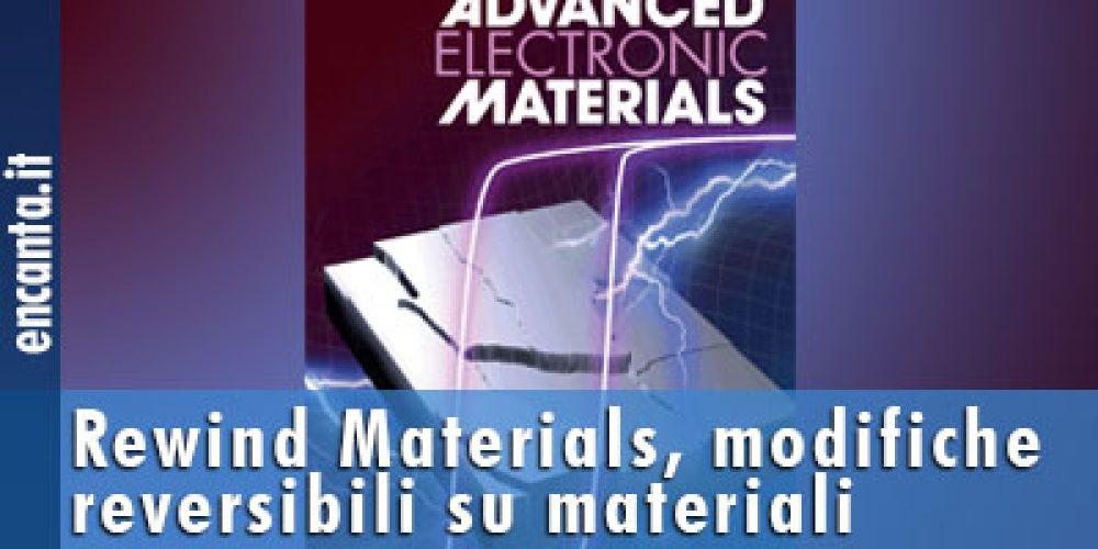 Rewind Materials, modifiche reversibili su materiali magnetici