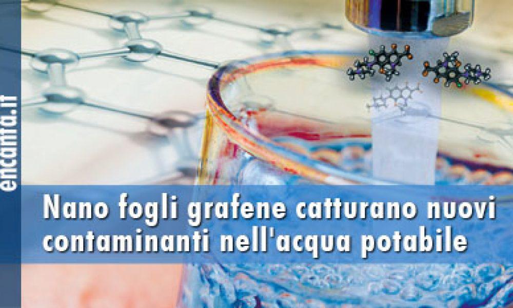 Nano fogli grafene catturano nuovi contaminanti nell'acqua potabile