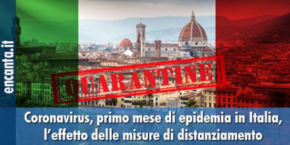 Coronavirus, primo mese di epidemia in Italia, l'effetto delle misure di distanziamento