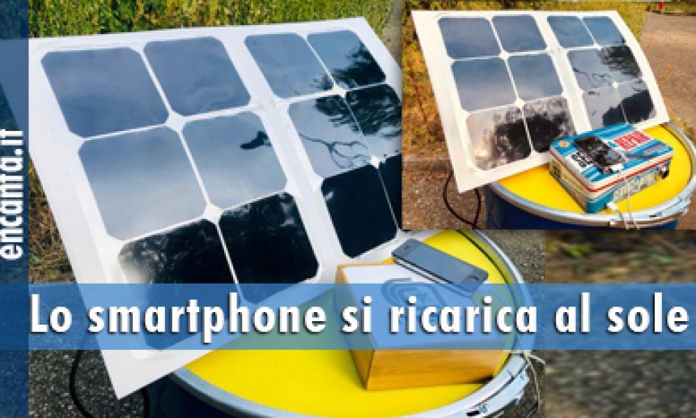 Lo smartphone si ricarica al sole
