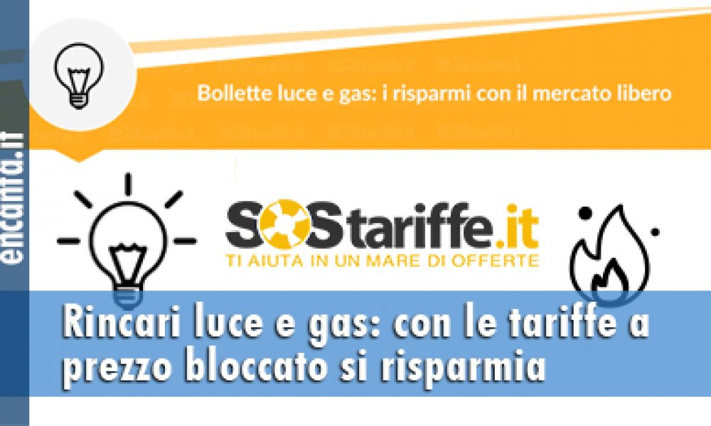 Rincari luce e gas: con le tariffe a prezzo bloccato si risparmia