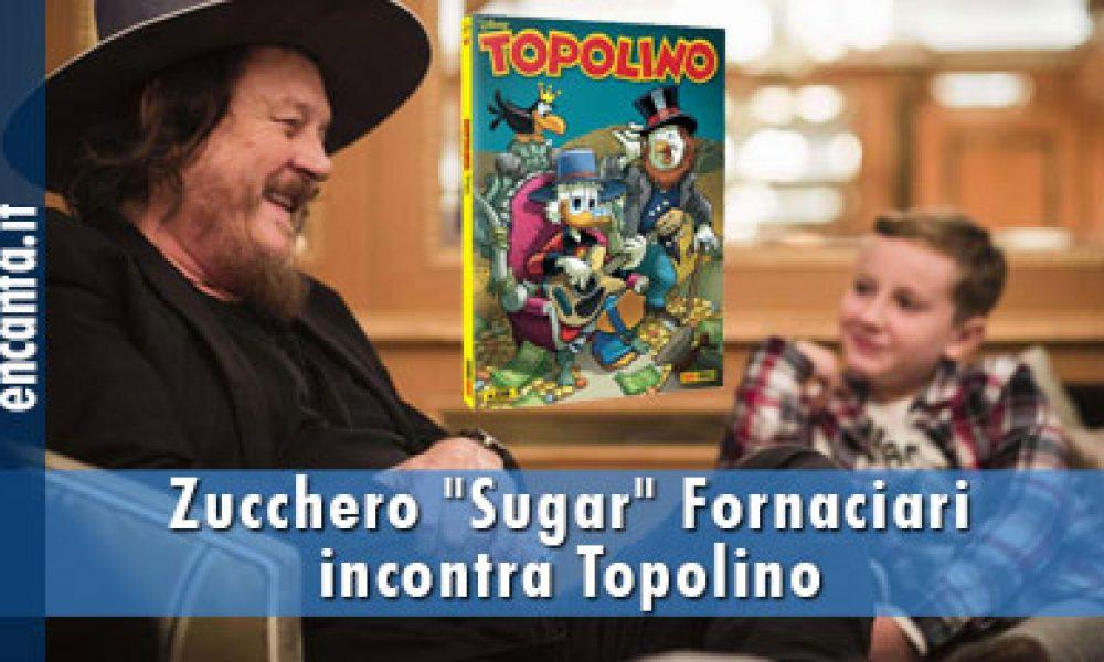 """Zucchero """"Sugar"""" Fornaciari incontra Topolino"""
