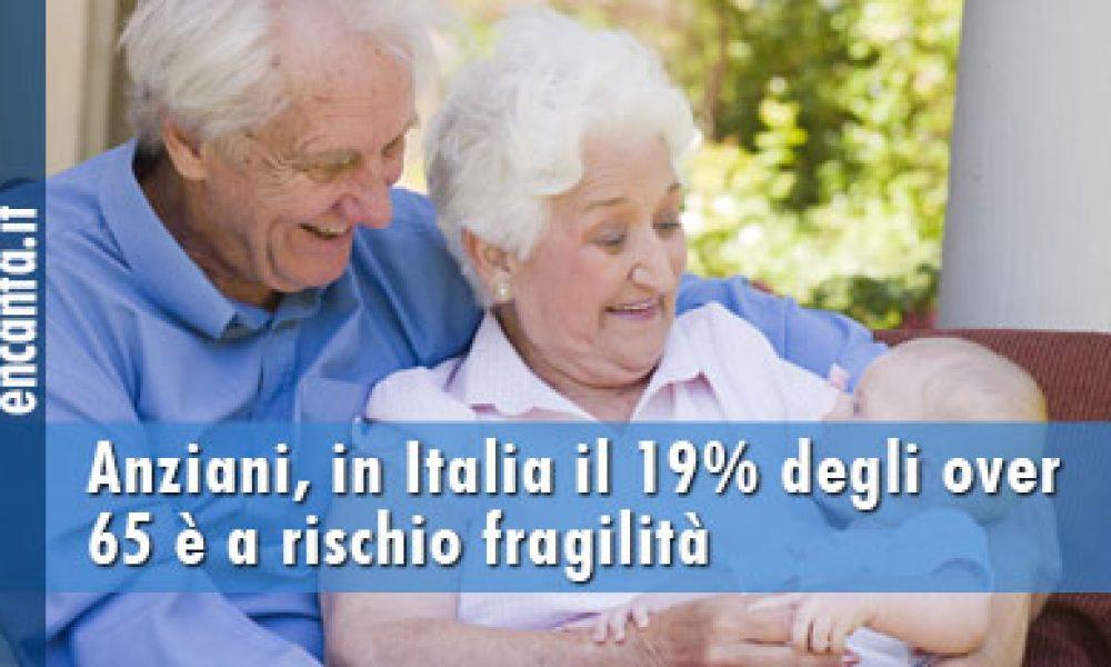 Anziani, in Italia il 19% degli over 65 è a rischio fragilità