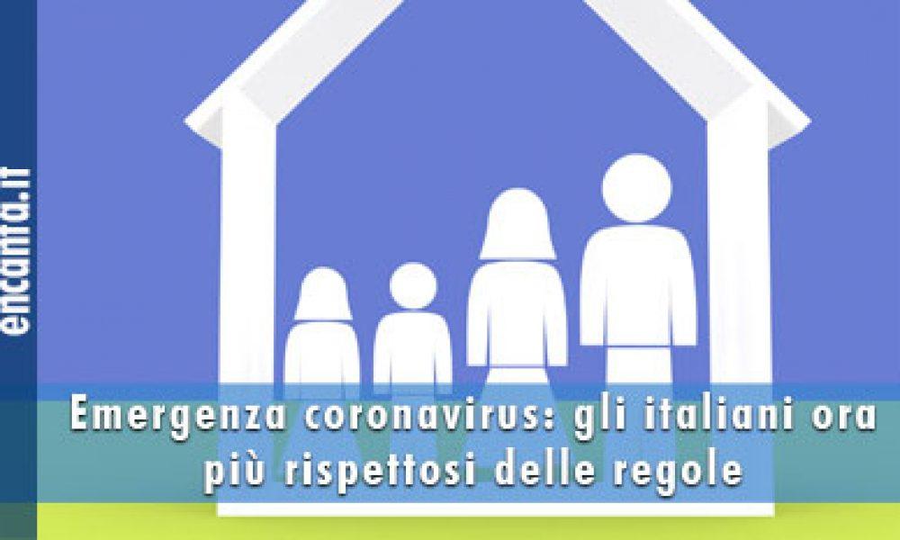 Emergenza coronavirus: gli italiani ora più rispettosi delle regole