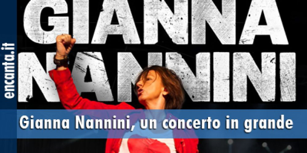 Gianna Nannini, un concerto in grande