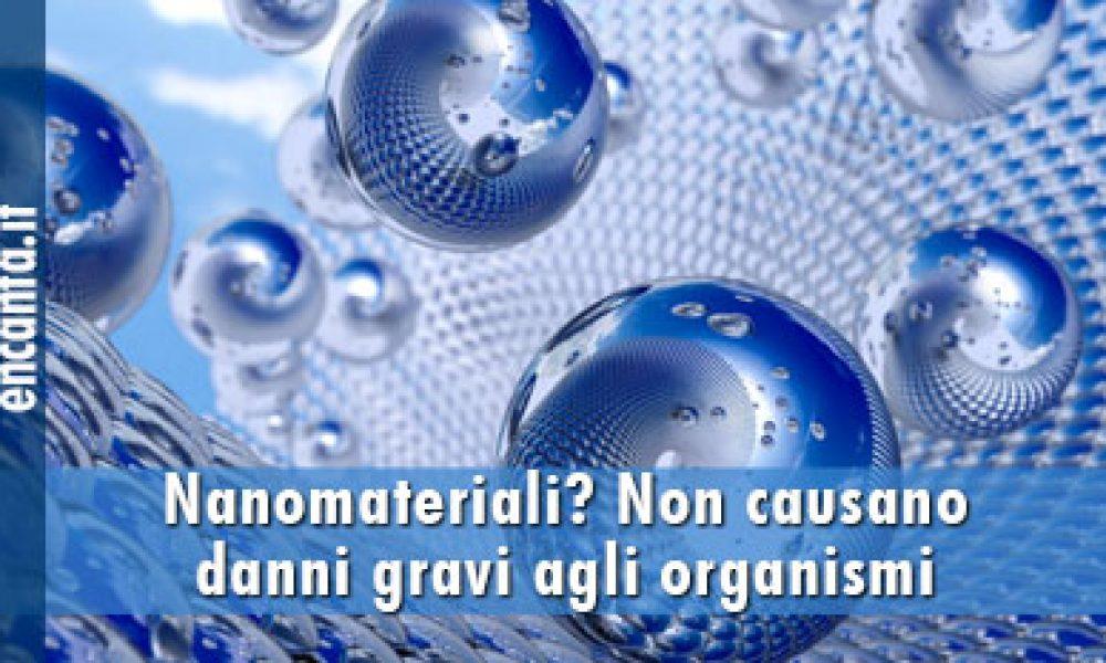 Nanomateriali? Non causano danni gravi agli organismi