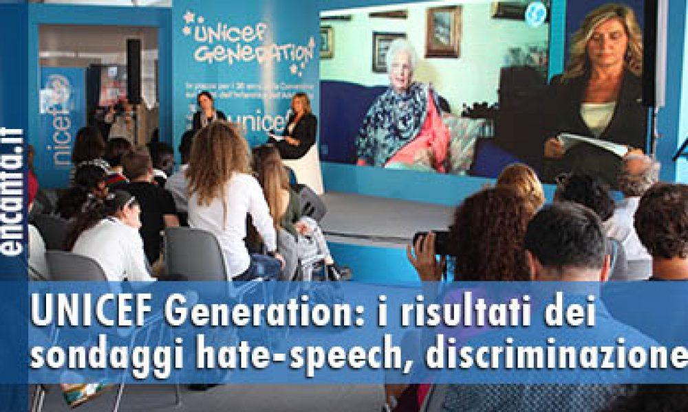 UNICEF Generation: i risultati dei sondaggi hate-speech, discriminazione e xenofobia