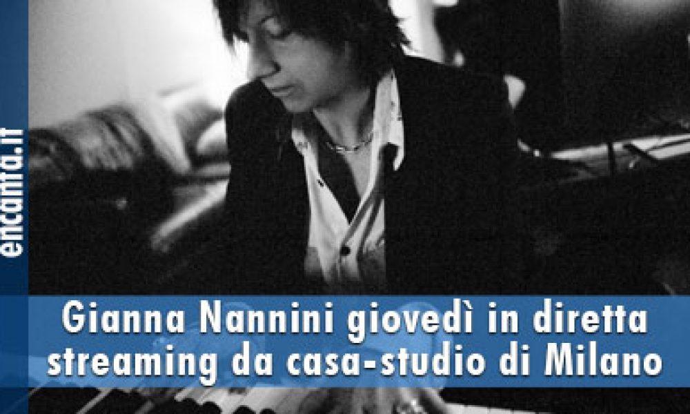 Gianna Nannini giovedì in diretta streaming da casa-studio di Milano