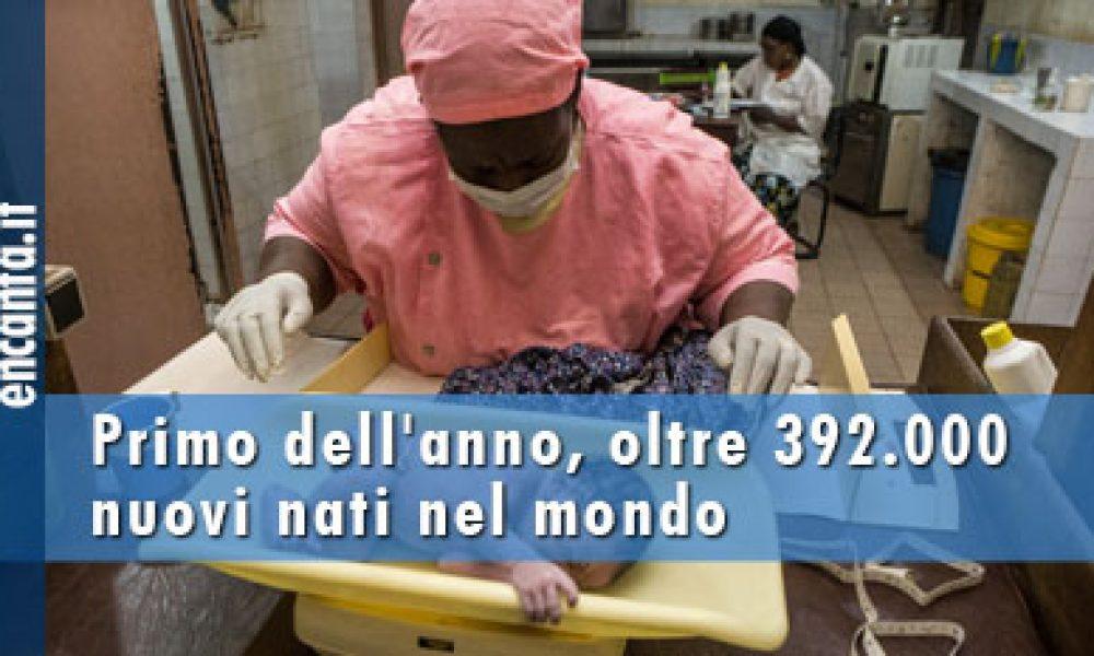 Primo dell'anno, oltre 392.000 nuovi nati nel mondo
